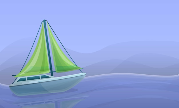Seeyacht-konzeptillustration, karikaturart Premium Vektoren