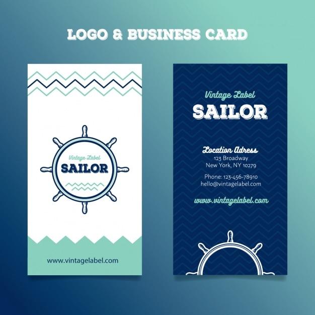 Segeln Logo Und Visitenkarten Download Der Kostenlosen Vektor