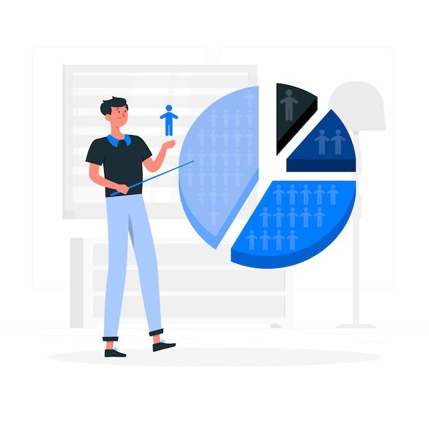Segmentierung illustration konzept Kostenlosen Vektoren