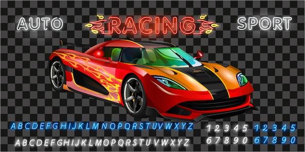 Sehr schnelle rennmaschine Premium Vektoren