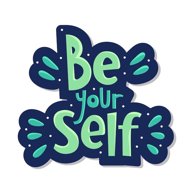 Sei deine selbstbeschriftung Premium Vektoren