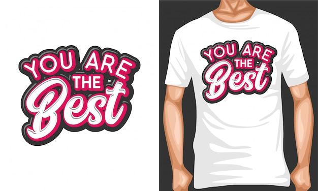 Seien sie die besten motivierenden typografiezitate Premium Vektoren