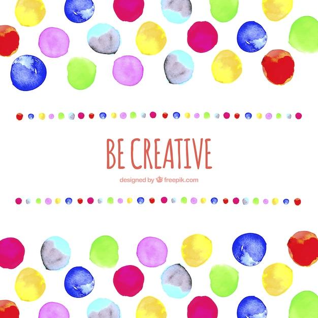 Seien sie kreativ hintergrund Kostenlosen Vektoren