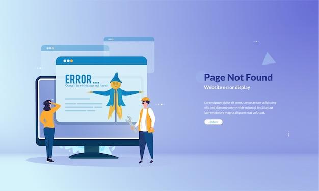 Seite kann banner-konzept nicht gefunden werden Premium Vektoren