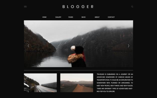 Seitenschablonen-designvektor des reiseblogs erster Kostenlosen Vektoren
