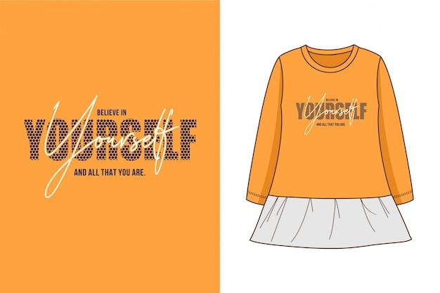 Selbst - grafisches t-shirt Premium Vektoren
