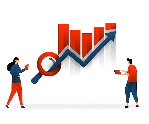 Seo und keywords bestimmen den trafficanstieg Premium Vektoren