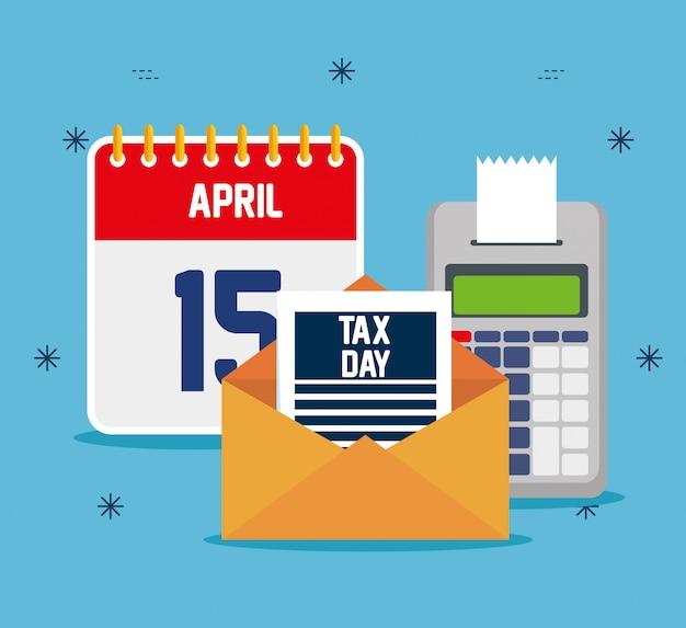 Servicesteuer mit finanztelefon und kalender Kostenlosen Vektoren