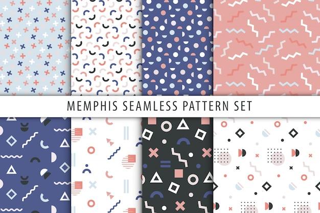 Set abstrakte geometrische drucke. Premium Vektoren