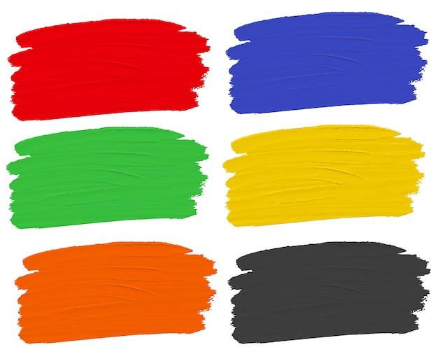 Set aquarellfarbe Premium Vektoren