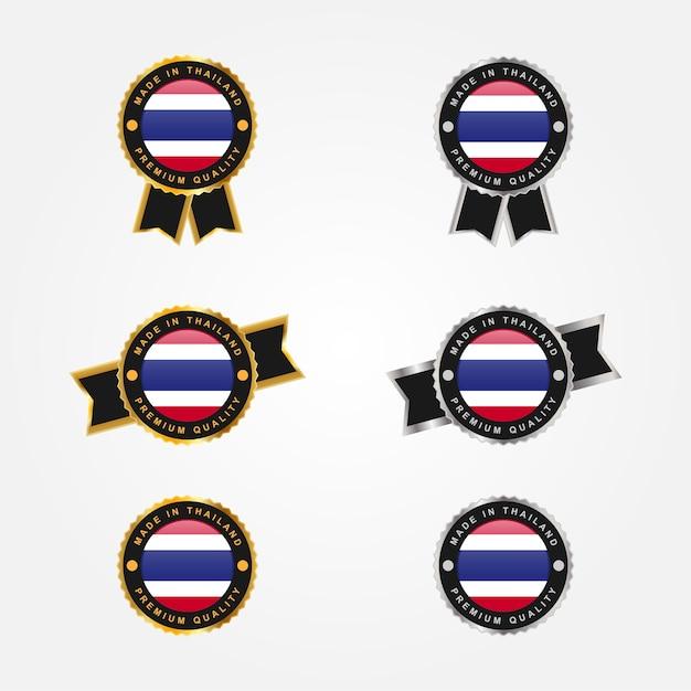 Set aus thailand-etikett Premium Vektoren