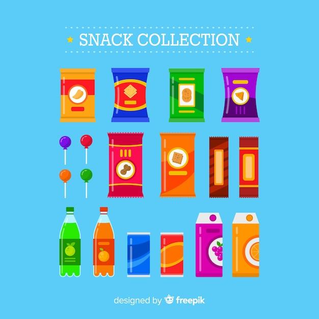 Set aus verschiedenen snacks Kostenlosen Vektoren