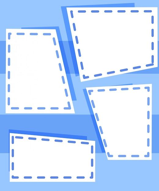 Set blaue vorlagen Kostenlosen Vektoren