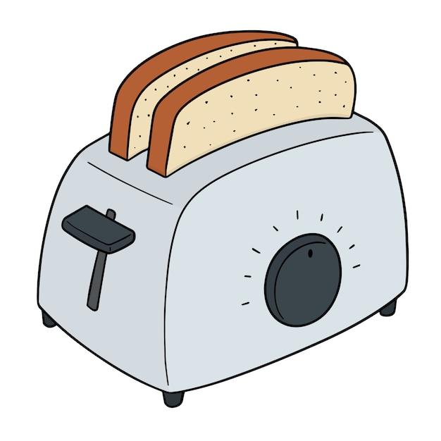 Set brot und toaster Premium Vektoren