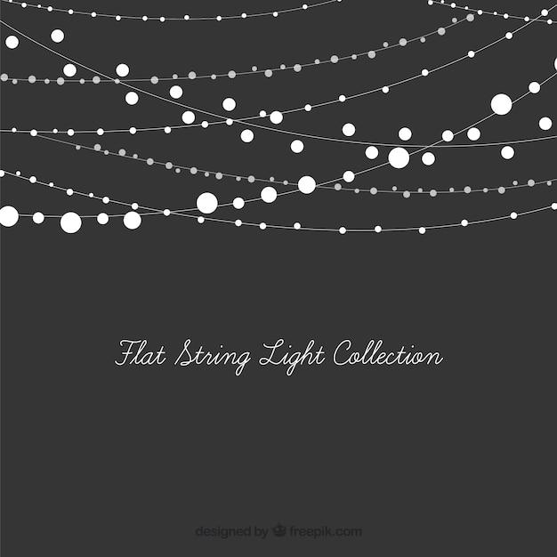 Set dekorative leuchten string Kostenlosen Vektoren