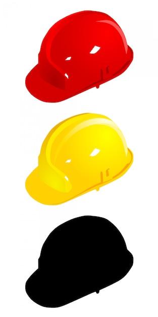 Set farbige helme. vektor Premium Vektoren