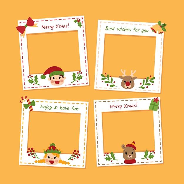 Set Fotorahmen für Weihnachten | Download der kostenlosen ...