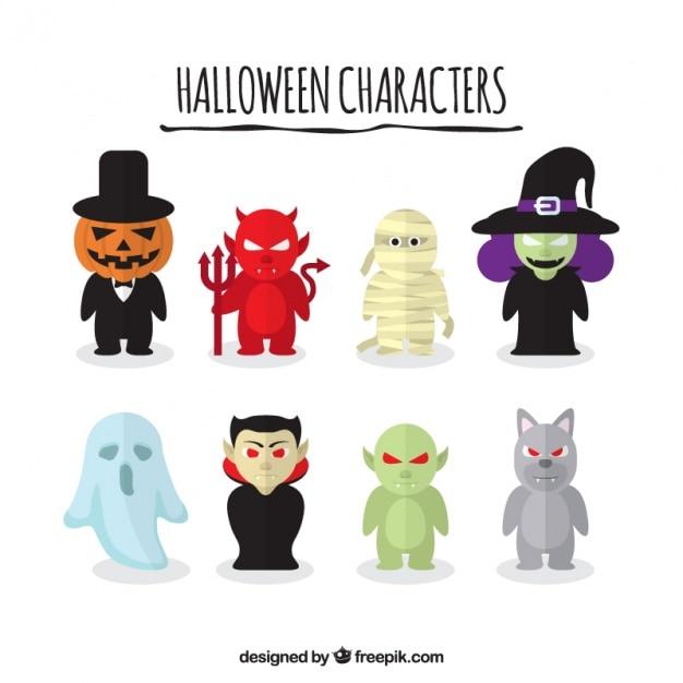 Set Halloween gruselig Zeichen | Download der kostenlosen Vektor
