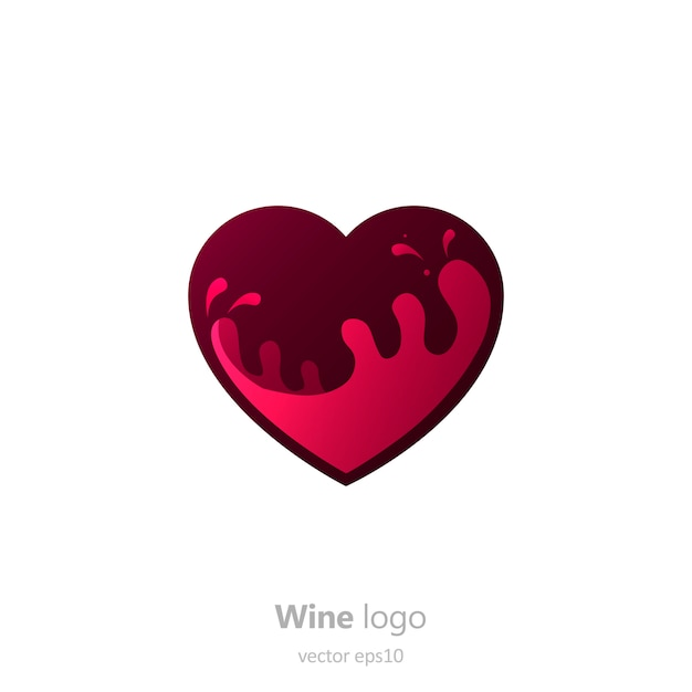Set logo rund mit einem glas wein. kapsel mit flüssigkeit in bewegung. Kostenlosen Vektoren
