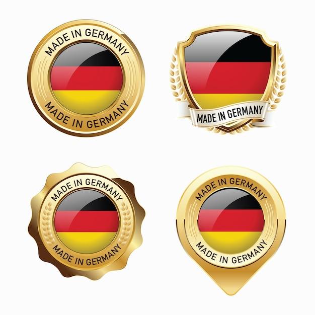 Set made in germany abzeichen Premium Vektoren