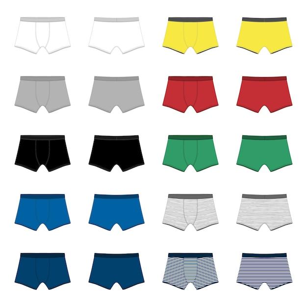 Set männer unterhosen Premium Vektoren