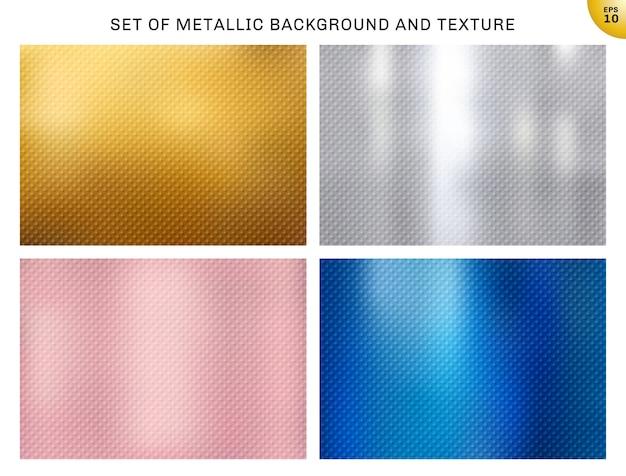 Set metallische hintergründe Premium Vektoren