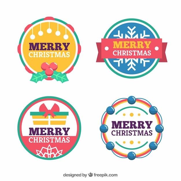 Etiketten Frohe Weihnachten.Set Mit Runden Etiketten Von Frohe Weihnachten Download Der