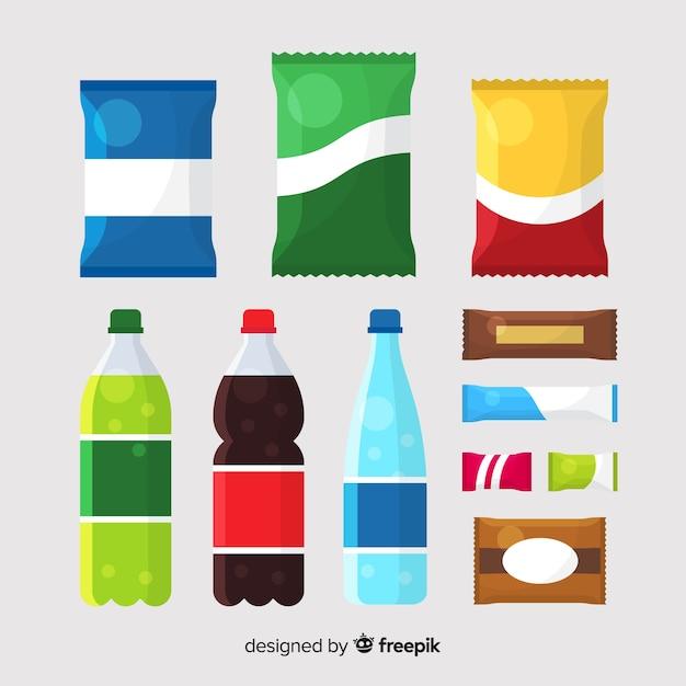 Set ungesunde snacks Kostenlosen Vektoren