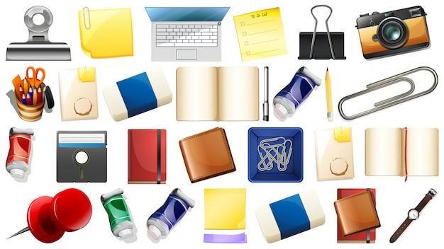 Set verschiedene objekte Kostenlosen Vektoren