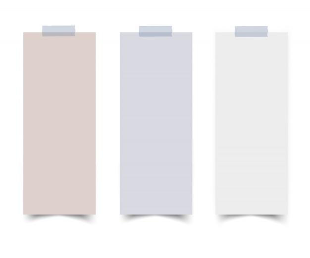 Set vertikale papierkartenfahnen Premium Vektoren