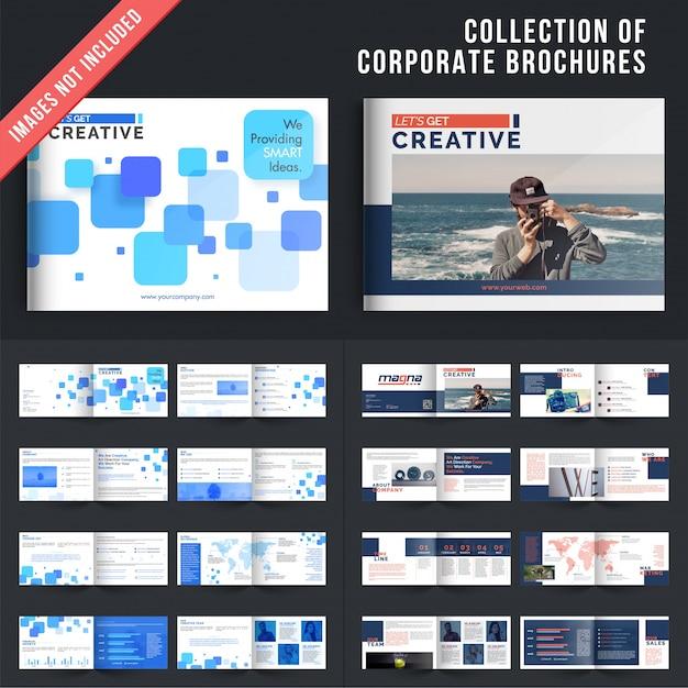 Set von 2 mehrfachen Seiten Broschüren mit Deckblatt Design ...
