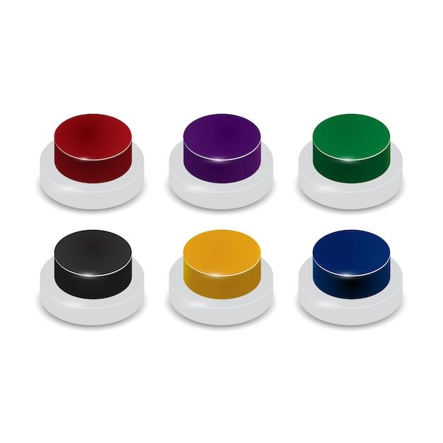Set von 6 farbigen tasten Kostenlosen Vektoren