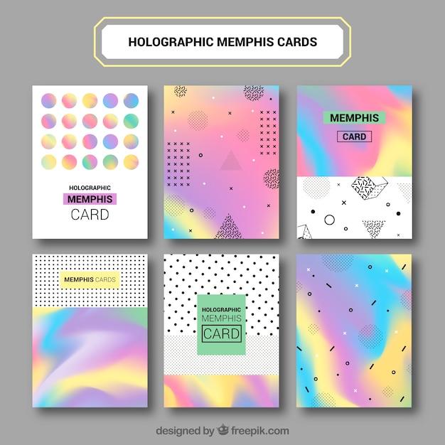 Set von abstrakten farbigen Infografikkarten Kostenlose Vektoren