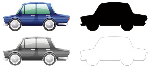 Set von auto-grafik Kostenlosen Vektoren