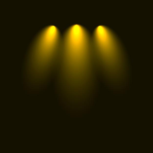 Set von blitzen, lichtern und funken. abstrakte goldene lichter lokalisiert auf einem transparenten hintergrund. helles gold blitzt und funkelt Premium Vektoren