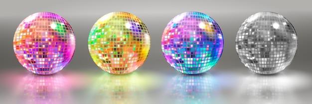 Set von discokugeln Premium Vektoren