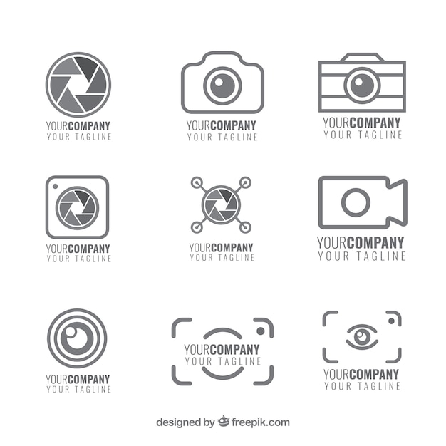 Set von kamera-logos Kostenlosen Vektoren