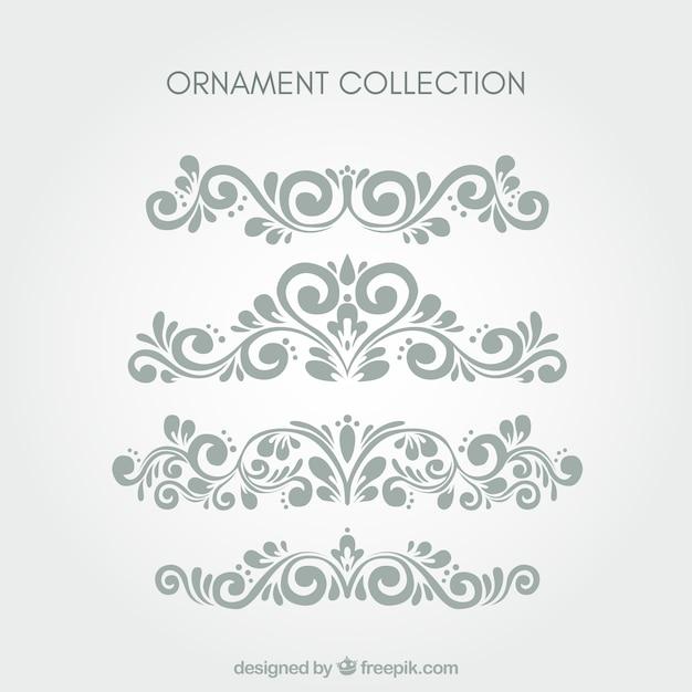 Set von klassischen Ornamenten Kostenlose Vektoren