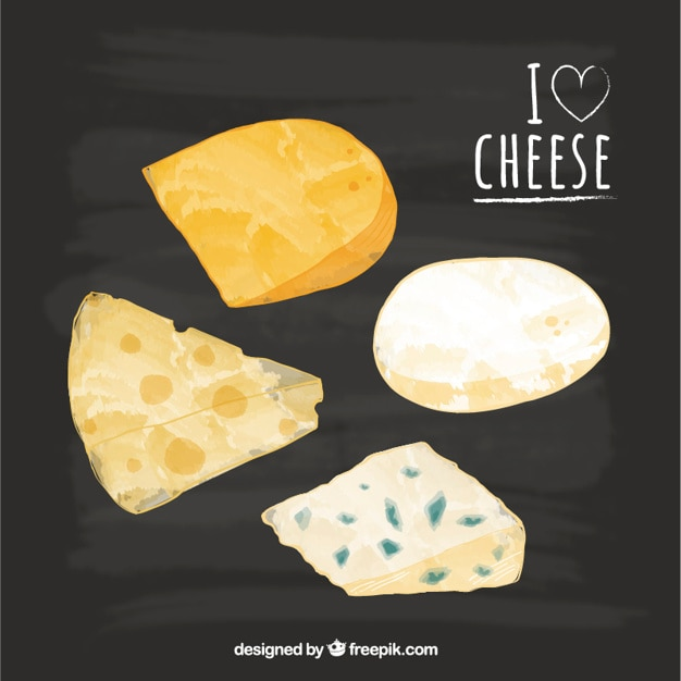 Set von leckeren käse Kostenlosen Vektoren