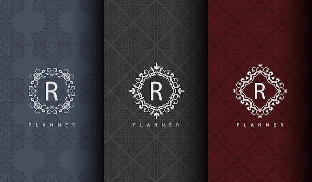 Set von luxus-logo Premium Vektoren