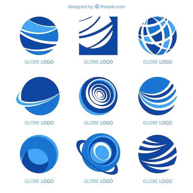 Set von modernen logos in abstrakten stil Kostenlosen Vektoren