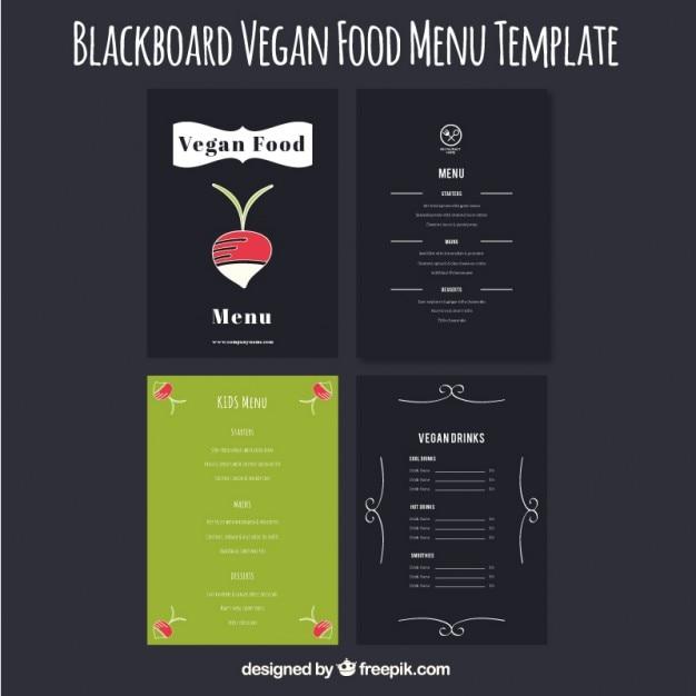 Set von niedlichen hand gezeichnet vegan menüs Kostenlosen Vektoren