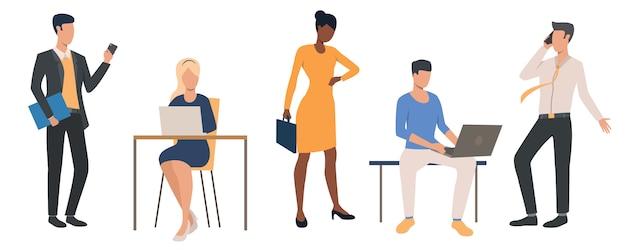Set von office-managern Kostenlosen Vektoren