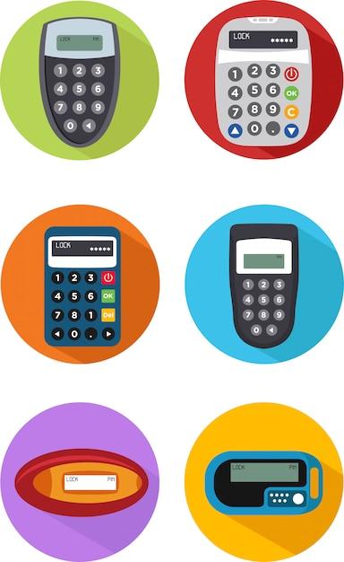 Set von sicherheits-token-symbol Premium Vektoren