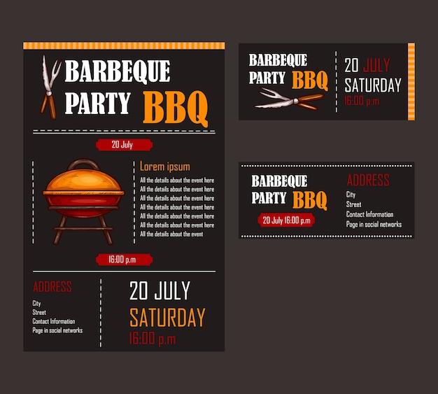 burns supper menu template - set von vektor illustrationen von einem bbq men vorlage