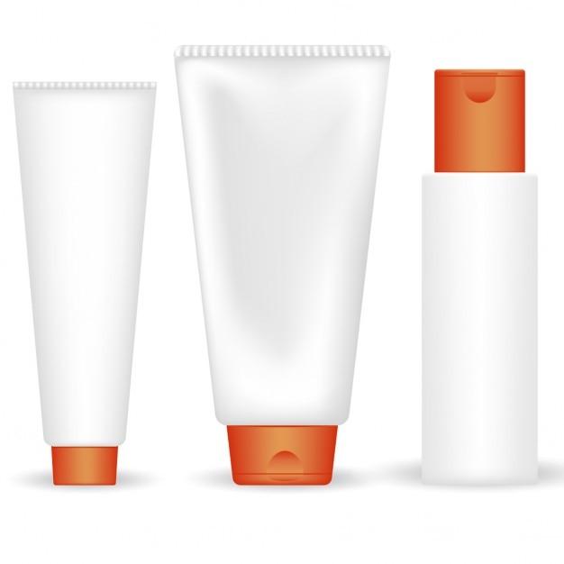 Set von vektor-röhren kosmetische Kostenlosen Vektoren