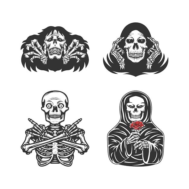 Set von verschiedenen skeletten Premium Vektoren