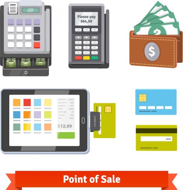 Set von zahlungs-icons Kostenlosen Vektoren