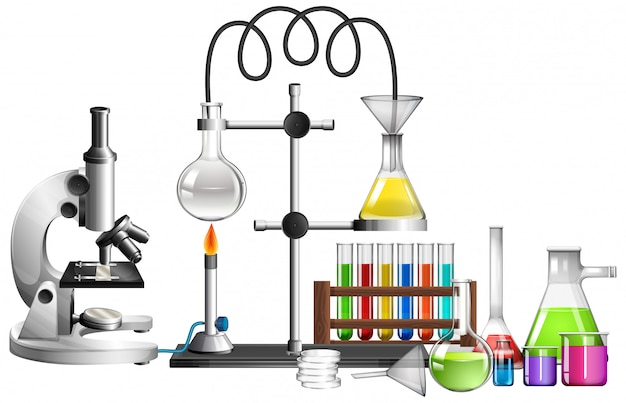 Set wissenschaftsausrüstungen Kostenlosen Vektoren