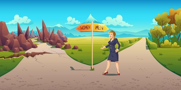 Sexismus und diskriminierung im karrierewachstum Kostenlosen Vektoren